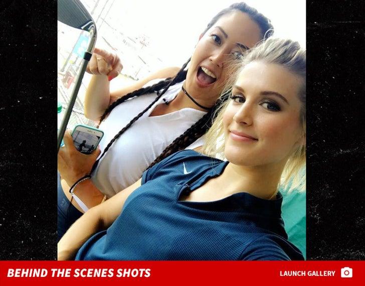 Michelle Wie and Genie Bouchard -- Behind the Scenes Shots
