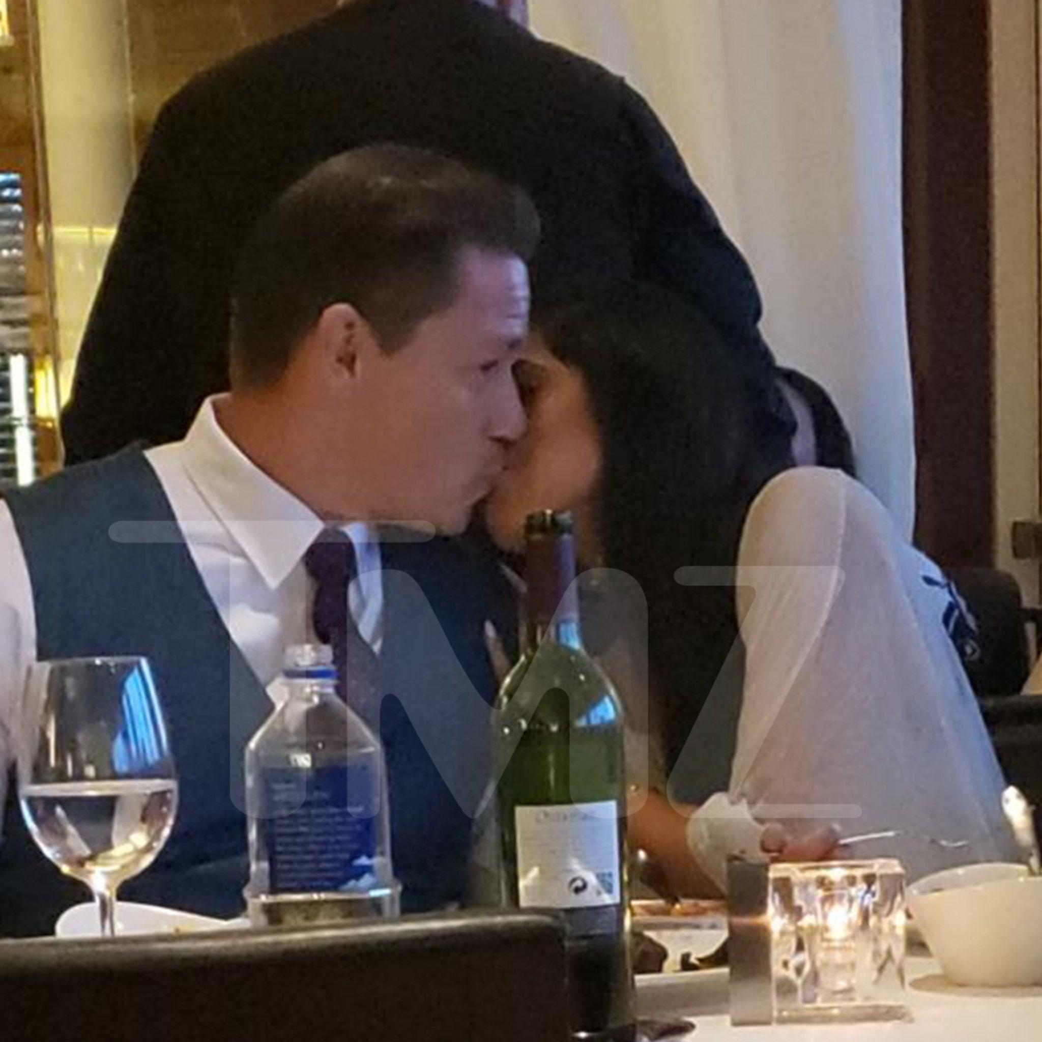 John Cena Kissing Girlfriend Shay at Restaurant