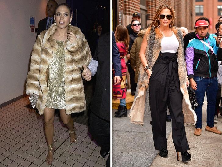 Jennifer Lopez Wearing Fur -- Through The Years