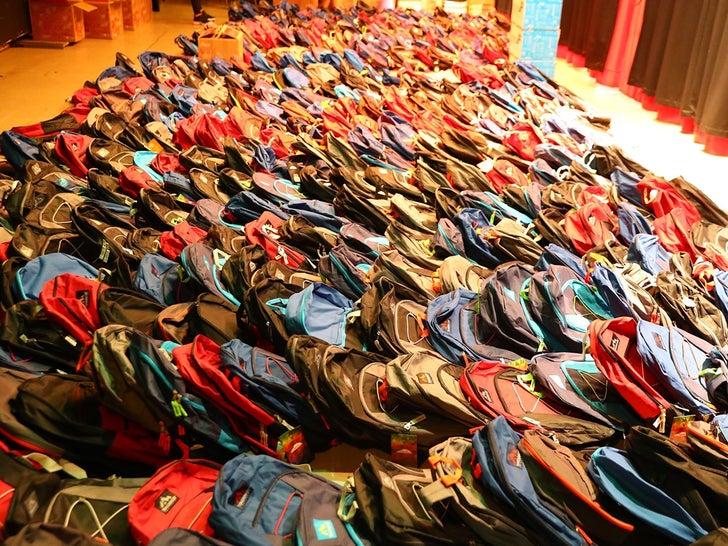 Meek Mill's Backpack Giveaway