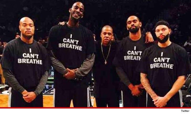 Jay-Z, Kevin Garnett & LeBron -- 'I Can't Breathe Protest ...