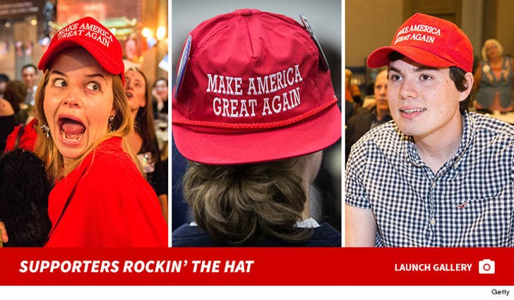 Donald Trump -- Supporters Rockin' the Hat