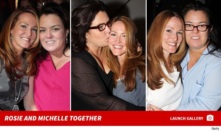 Rosie O'Donnell and Michelle Rounds Together