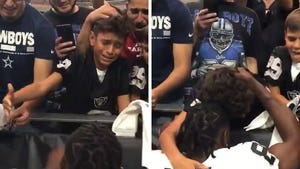 Antonio Brown Hugs Bawling Raiders Fan In Adorable Video