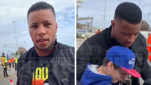 Saquon Barkley Has Emotional Meeting W/ 11-Year-Old Snubbed By Cowboys Star