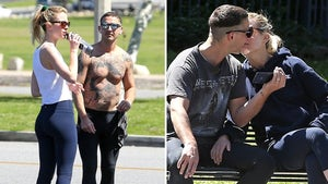 Shia LaBeouf Locks Lips with Mystery Blonde While Shirtless, Tatted
