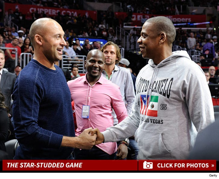 Celebs at the Clippers Game
