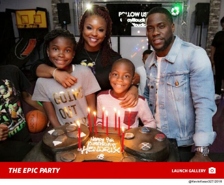 Kevin Hart And Ex Torrei Hart's Epic Party for Son's 9th Birthday