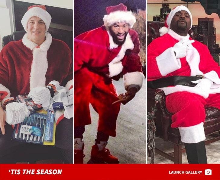 Sports Stars Dressed As Santa Claus