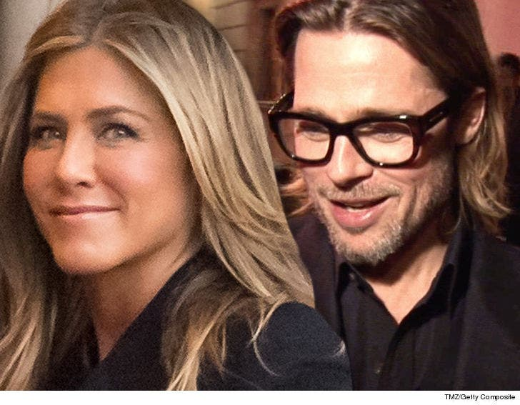 Brad Pitt Shows Up For Jennifer Aniston S 50th Birthday Party