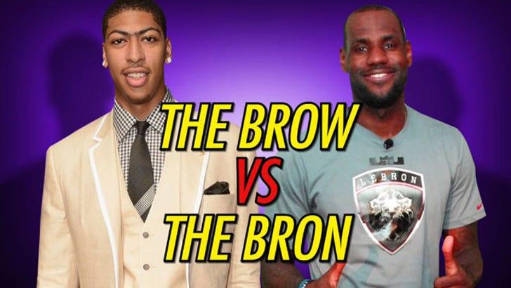 Anthony Davis vs. LeBron James -- Unibrow vs Hairline ...