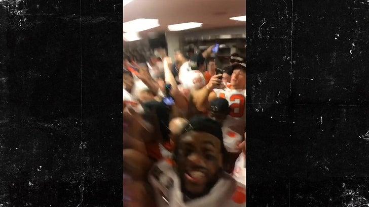 Dabo Swinney Shoot Dances In Wild Clemson Locker Room