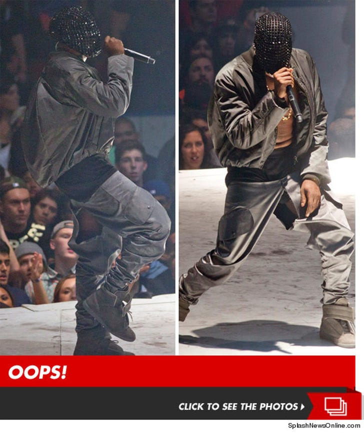 Kanye West -- Peep Deez Nuts  Crotch Rips During -1407
