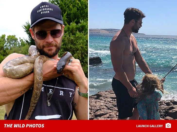 Chris Hemsworth -- Family Photos from Australia