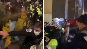 Trump Supporters Clash with Cops in D.C., Pepper Sprayed & Pushed Back
