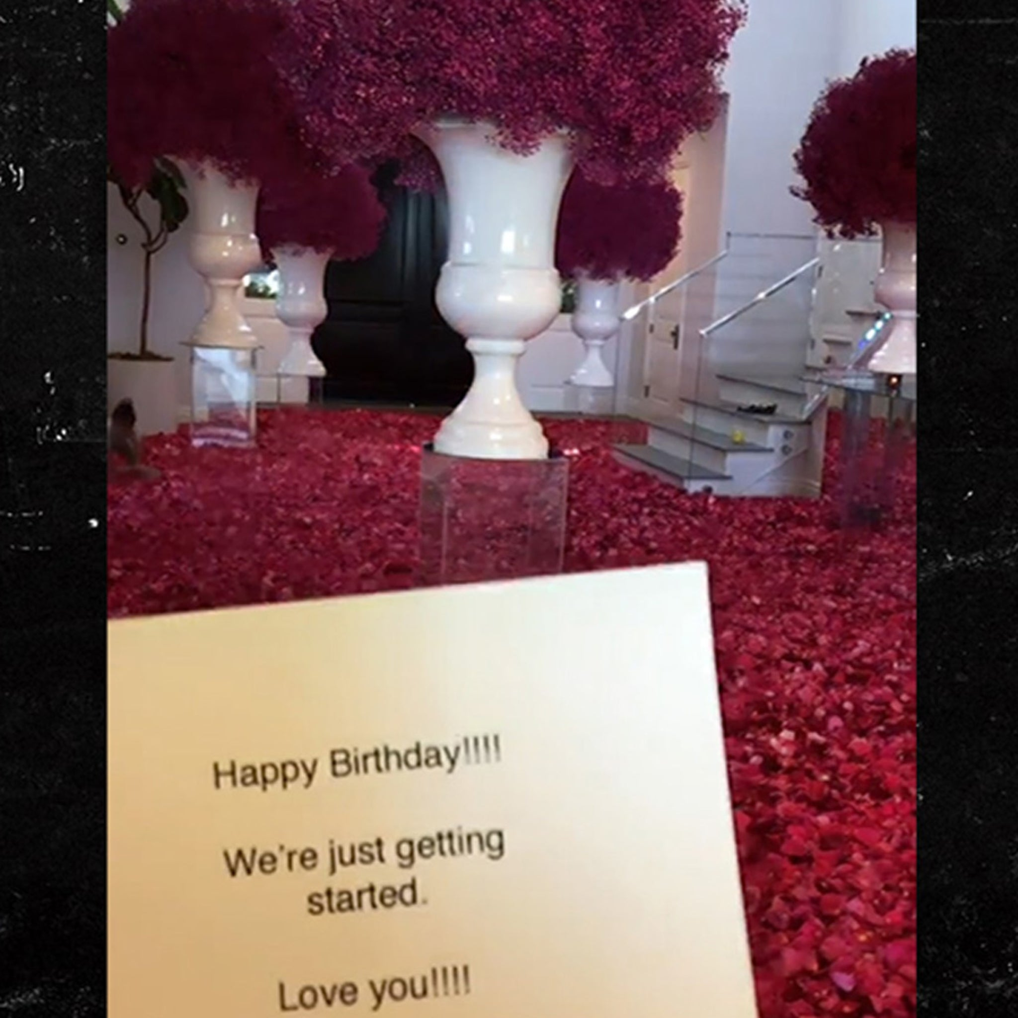Kylie Jenner's House Covered in Roses, Birthday Gift from