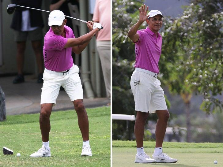 Barack Obama Golfs As President Trump's Impeached