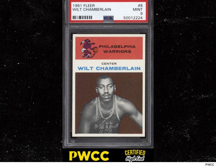 Wilt Chamberlain Rookie Card Sells For 60000