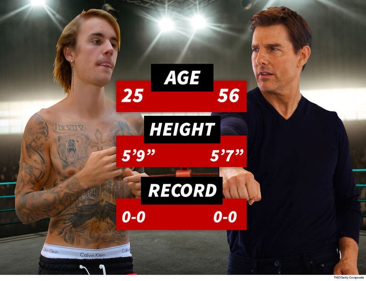Tom Cruise vs  Justin Bieber UFC Fight Could Happen, Says