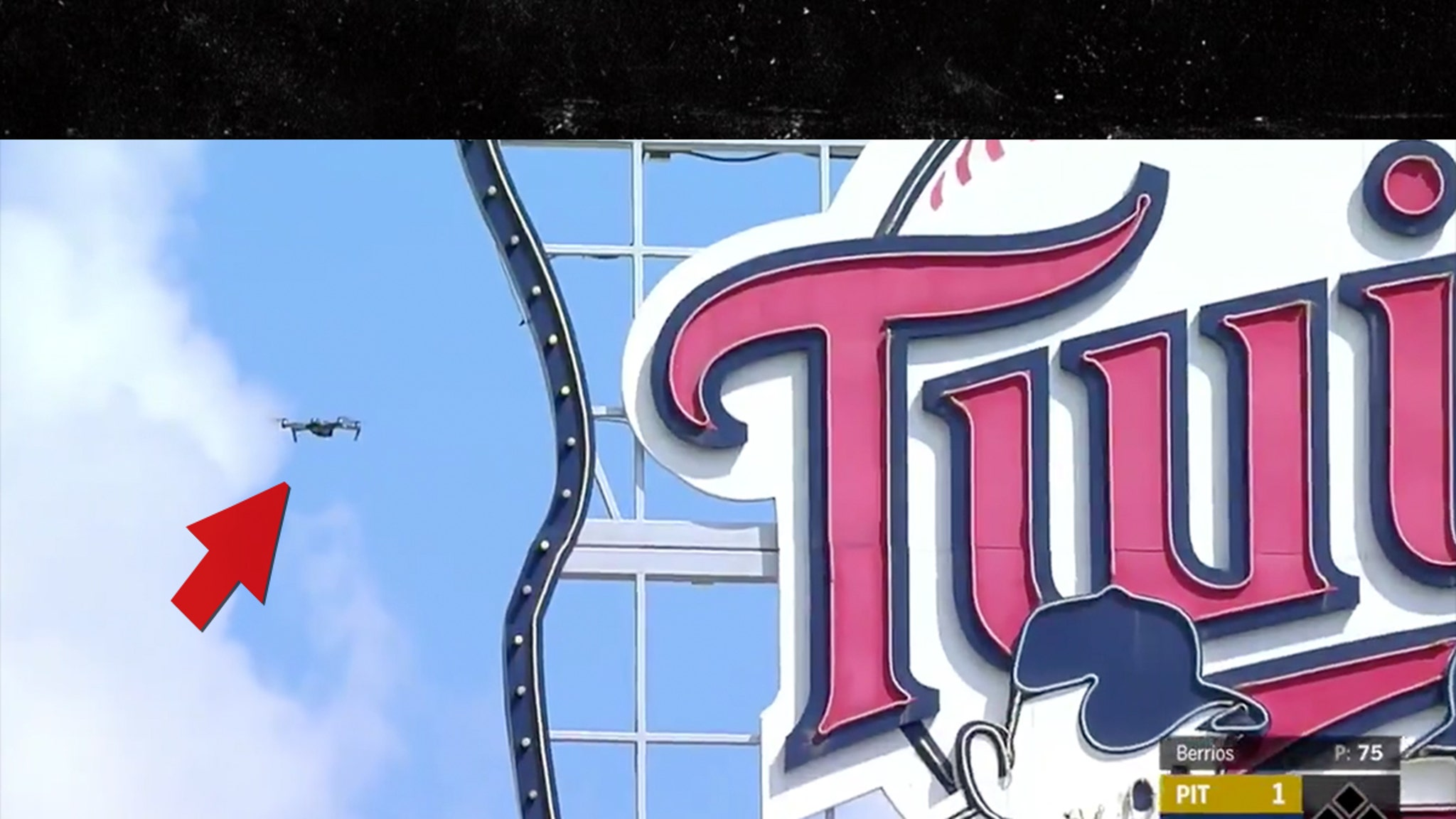 MLB Game Paused Over Flying Drone ... Players Pulled Off Field