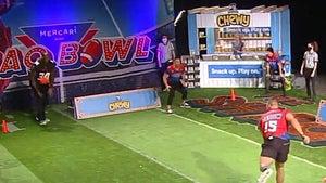 Tim Tebow Annihilates Shaq's Guts In Wild Super Bowl Dodgeball Game