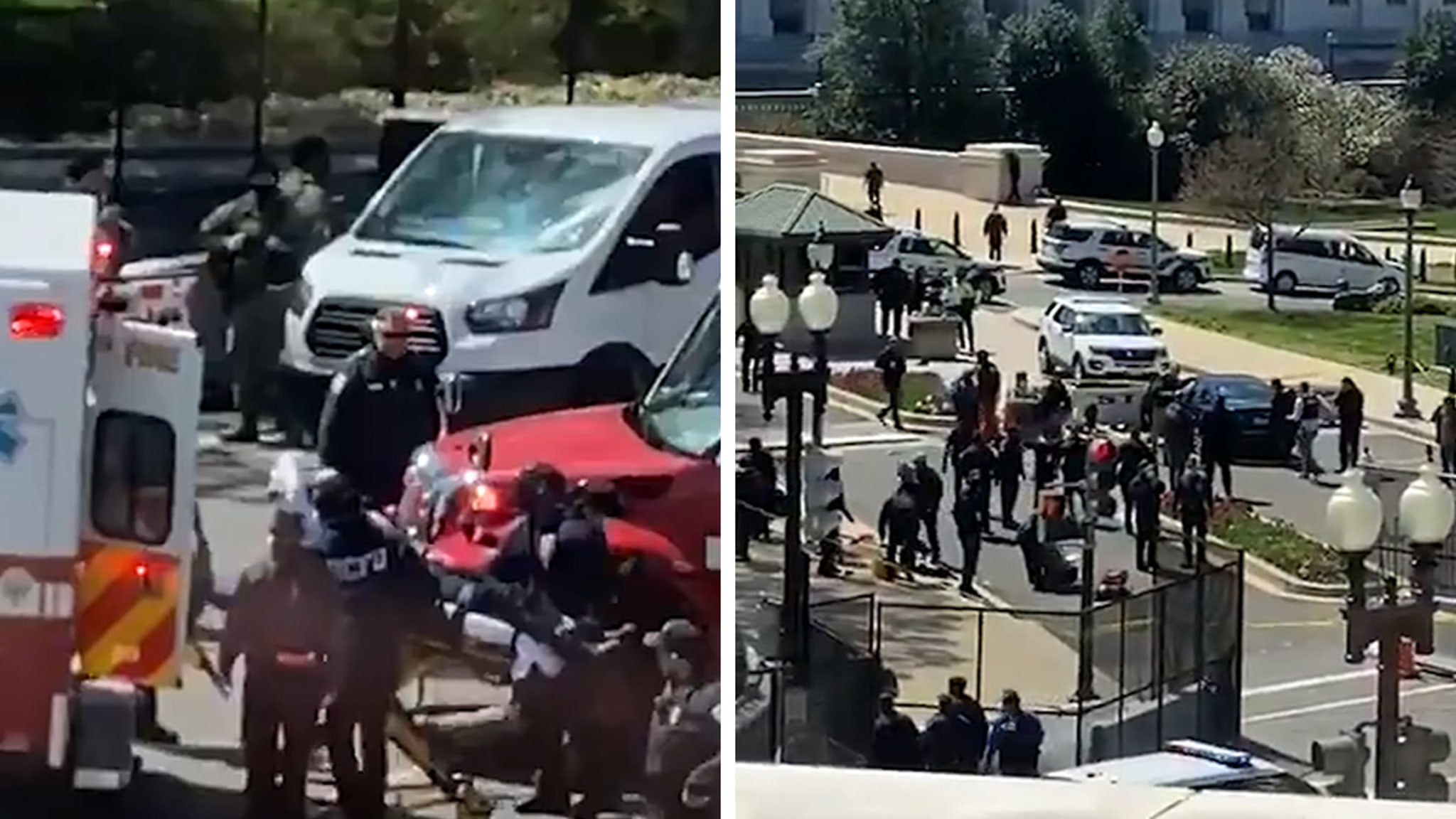 U.S. Capitol on Lockdown After Car Hits 2 Cops, Suspect and 1 Cop Dead thumbnail