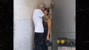 Travis Barker & Kourtney Kardashian Make Out on NYC Loading Dock