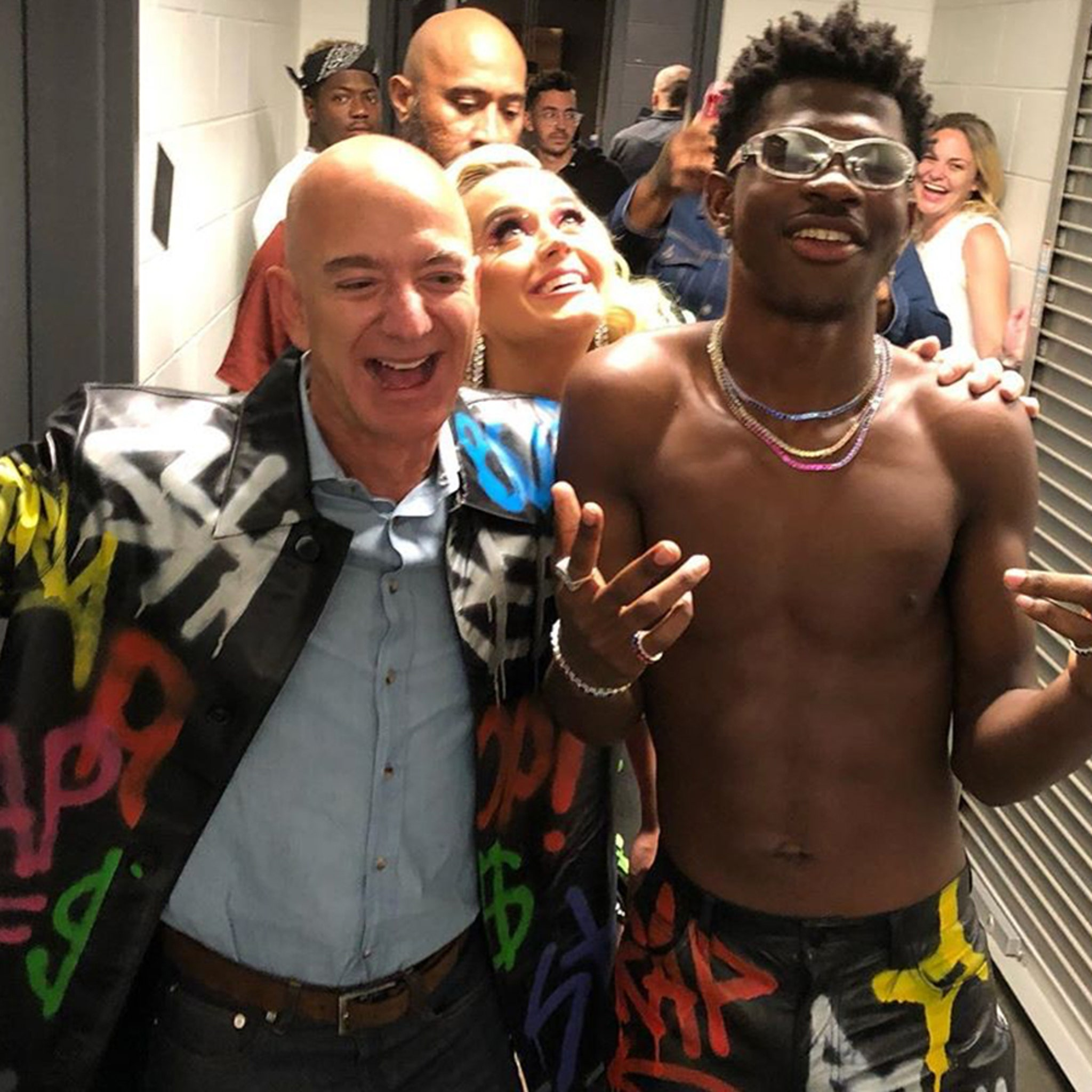 Lil Nas X, Jeff Bezos and Katy Perry Party at Amazon's Employees Bash