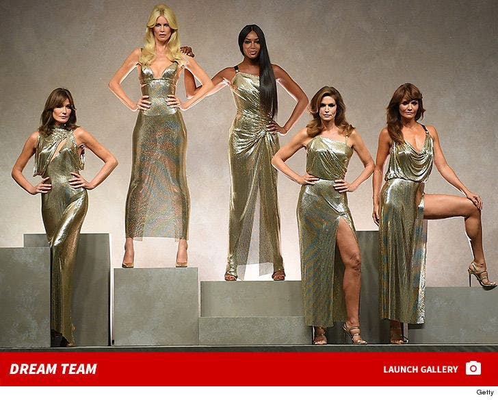 Classic Supermodels Hit Versace Show at Milan Fashion Week