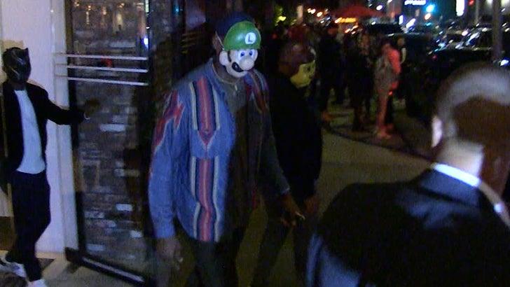Lebron James Halloween Party 2020 LeBron James' Halloween Costume? Turtle Murdering Plumber