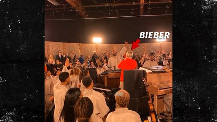 Justin Bieber Makes Surprise Appearance at Kanye West's Sunday Service