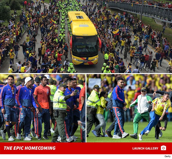 Colombian National Team's Epic Homecoming