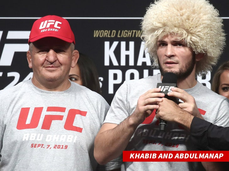 Khabib Nurmagomedov and his dad Abdulmanap