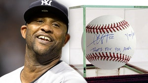 CC Sabathia Signs 'That's For You, B*tch' Balls, Immortalizes Famous Ejection
