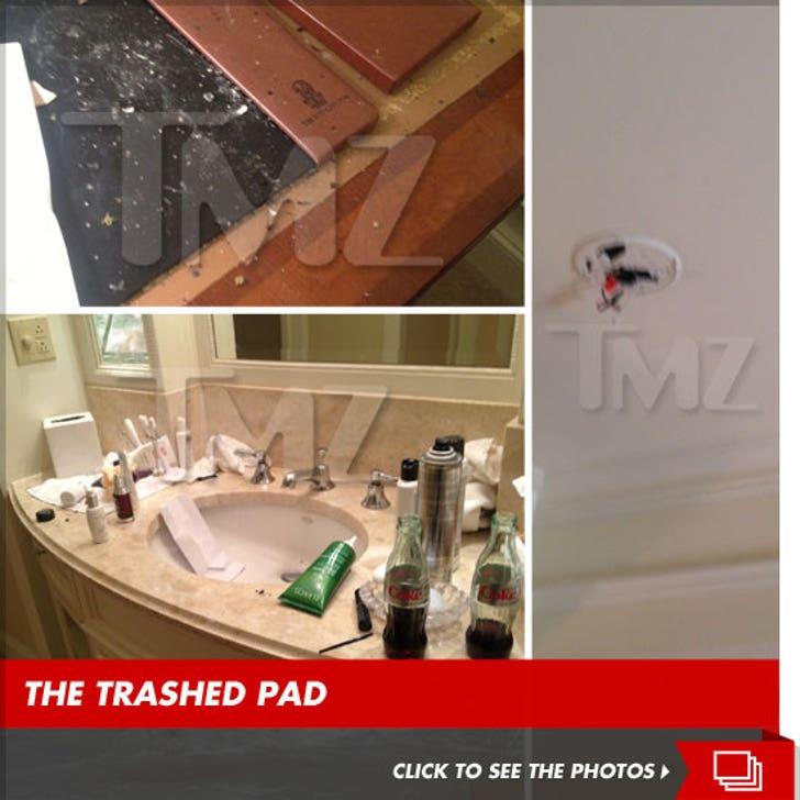 Amanda Bynes' Ritz Carlton Hotel Room Aftermath