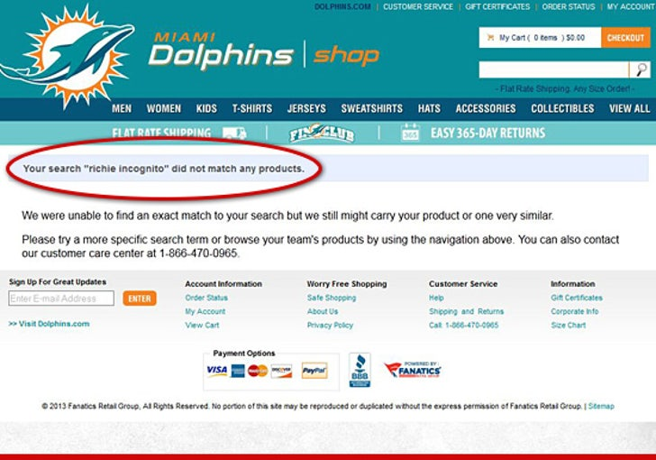 cheap for discount a805e 4dad3 Richie Incognito -- Jerseys DISAPPEAR from Miami Dolphins ...