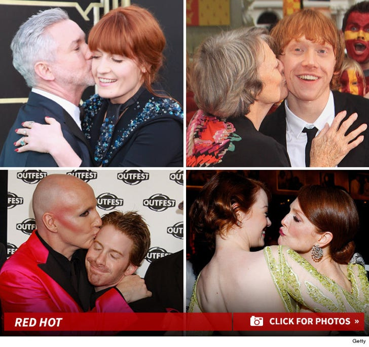 Stars Pucker Up -- Kiss A Ginger Day!