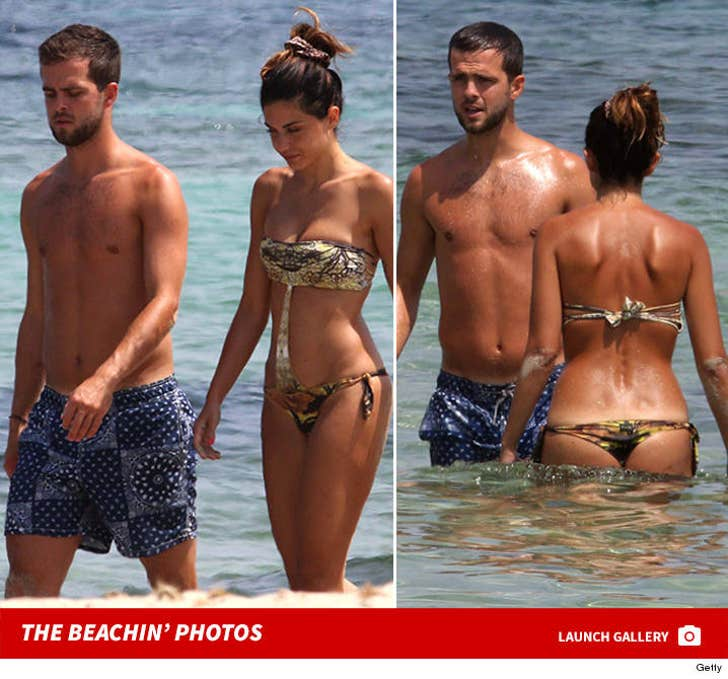 Soccer Superstar Miralem Pjanic -- Hot Wife Thongs Out In Ibiza