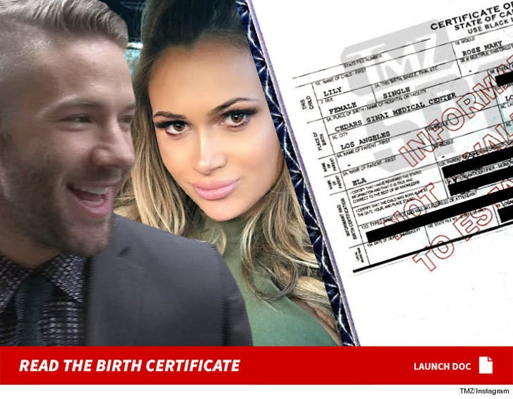 Julian Edelman M I A From Baby Girl S Birth Certificate