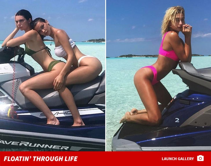 Kendall Jenner, Hailey Baldwin and Bella Hadid Are Sharing a Jet Ski on Secret Vacay
