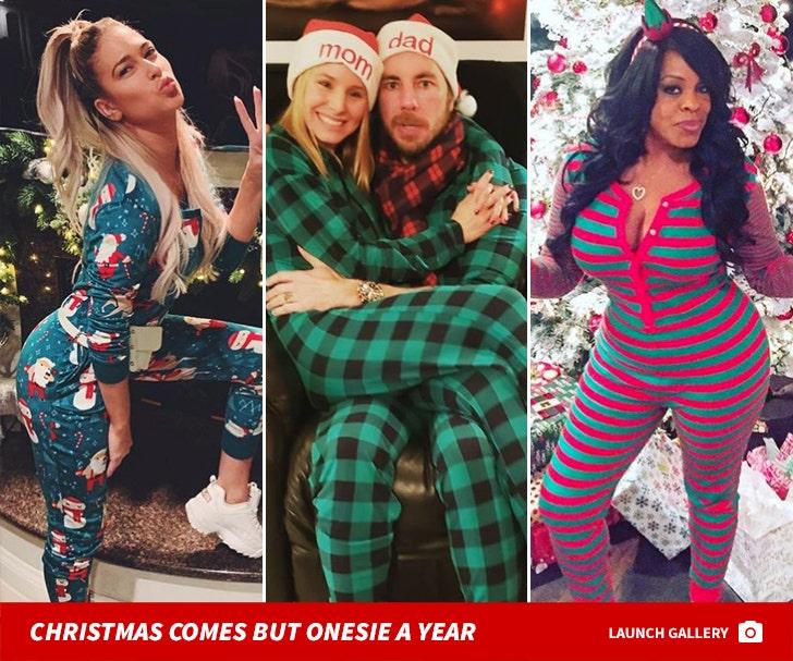 Celebrities Rockin' Holiday Onesies