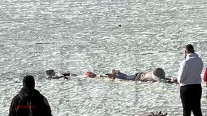 Family Rescued After Falling Through Ice on Frozen Big Bear Lake