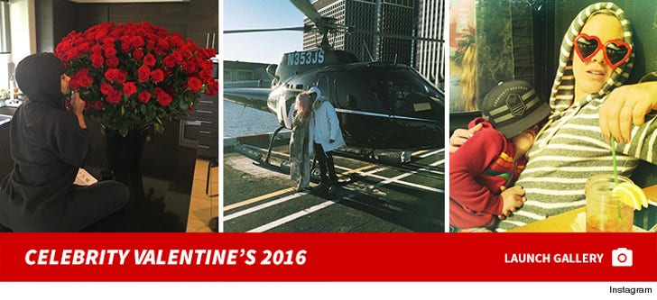 Celebrities Celebrating Valentine's Day