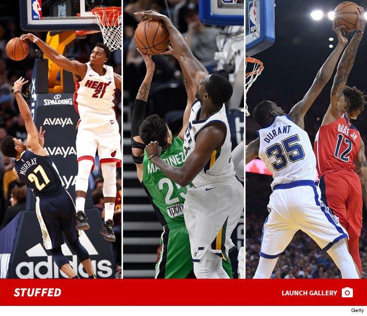 NBA Players Getting Stuffed
