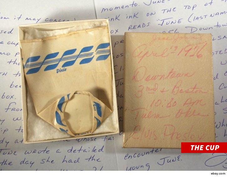 Elvis Presley's Old Paper Cup Sold for Over $3k