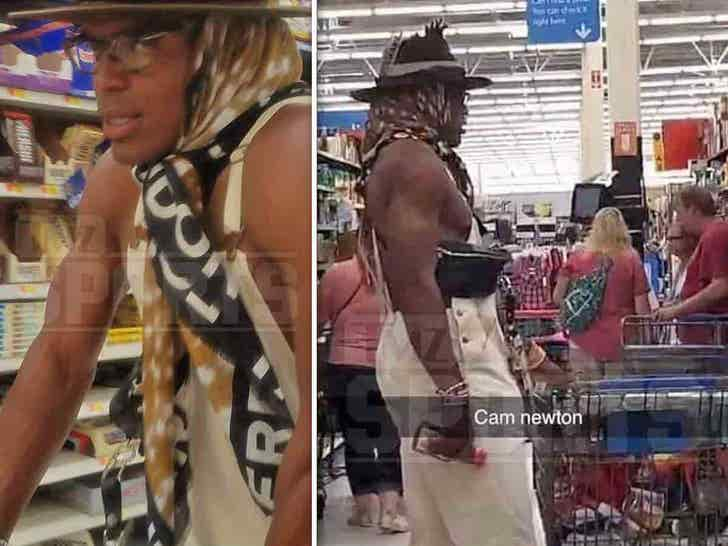 the best attitude bdf97 f7b0f Cam Newton's Shirtless Walmart Shopping Spree