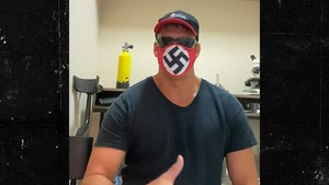 Redneck Shows Off New Swastika Face Mask, Explains Rationale
