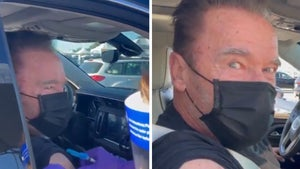 Arnold Schwarzenegger Gets COVID-19 Vaccine at Dodger Stadium