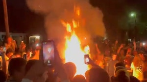 Baylor Fans Throw Wild Street Party After Winning Title, Couch Burning & Fireworks!