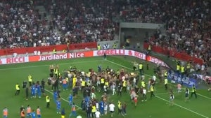 Nice Vs. Marseille Soccer Players Fight Fans In Insane In-Game Brawl